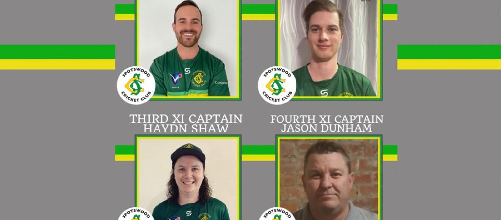 Captains for 2021-22 season