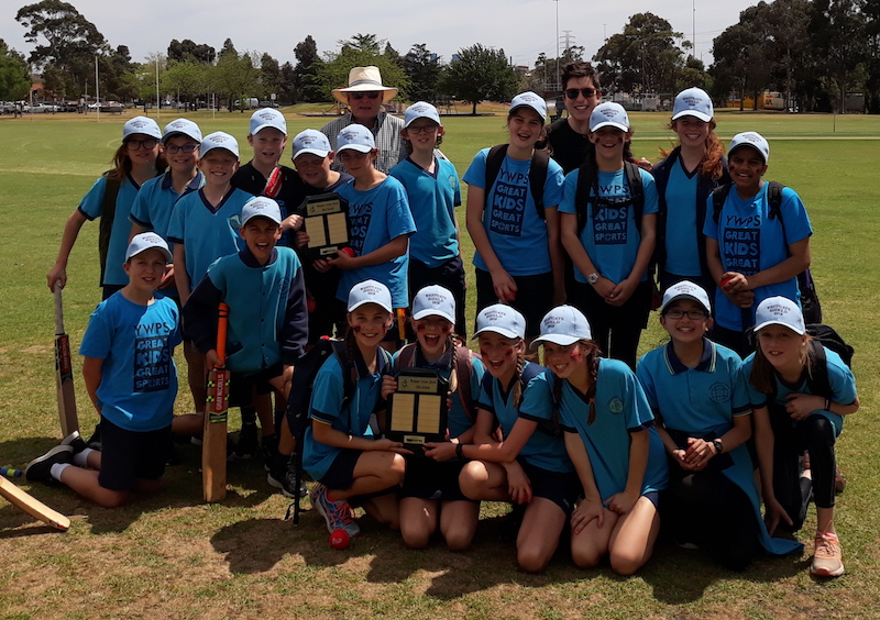 The winning 2018 Westgate Shield teams from Yarraville West PS.